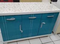 Kitchen Set Minimalis 3 Pintu Merah Biru Hitam