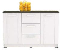 Kitchen Set Minimalis 3 Pintu Putih Glossy Bawah