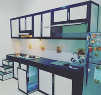 Kitchen Set Minimalis Bahan Aluminium