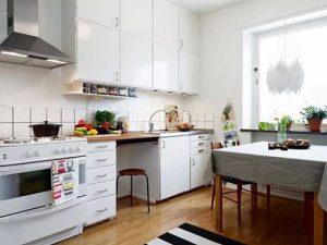 Kitchen Set Minimalis Murah Putih dengan Storage Maksimal