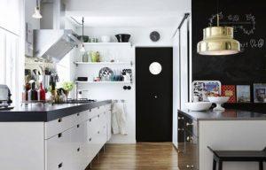 Kitchen Set Minimalis Murah dan Monokromatik Ala Gantung