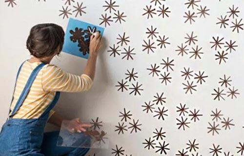 Motif Bintang dengan Kertas