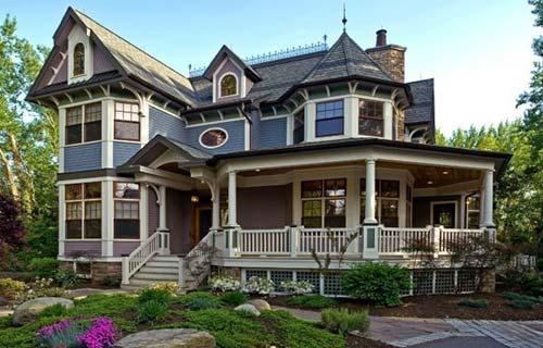 Desain Rumah Klasik Victorian