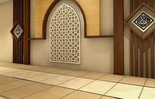 Mushola Minimalis dengan Karpet Pola Mozaik