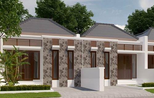 Rumah Minimalis Type 36 dengan Batu Alam