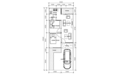 Rumah Minimalis Type 36 dengan Tempat Parkir 1 1