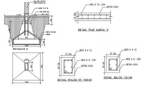 perhitungan struktur rumah 2 lantai